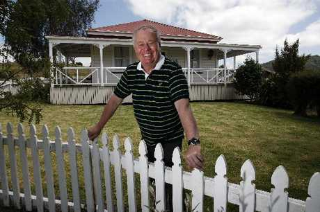 PLANS: Stewart Bowden in front of the premises he would like to see turned into a cafe.