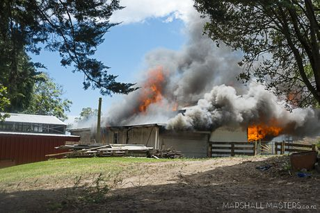 Large shed fire in Papamoa