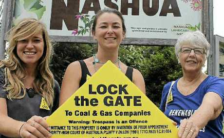 TEAM PLAYERS: Gasfield-free communities' coordinators Amelia Hicks from Tintenbar, Knockrow and Teven, Jess Gilmore from Brooklet, Fernleigh and Newrybar, and Carmel Bennett from Nashua.