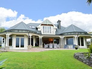 NICE CRIB: This house on Paihia Rd was the most expensive sold in Northland in 2012, sold by Bayleys for more than $2million. It was built in 2000 and overlooks the sea, and has four bedrooms, four bathrooms and three garages.