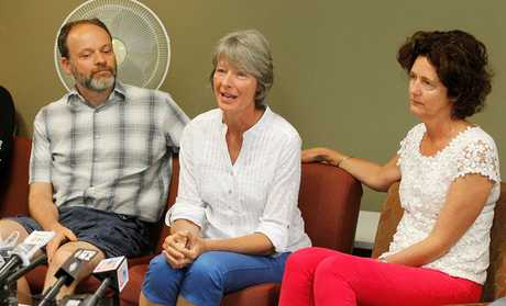 Parents of survivors, Tim Fellows, Sheila Tippett and Jennifer Boggiss.
