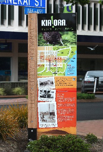 "New interactive signage promoting Rotorua as a ""Walkable City'' have gone up on Tutanekai St."