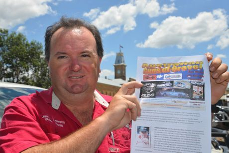 RALLY MEMORIES: Jamie Lawson is promoting a dinner next month in Toowoomba. Photo Gerard Walsh / Warwick Daily News
