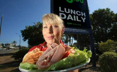 Sandra Pilbeam, from Tweed Heads Bowls Club, with a great looking cheap meal.