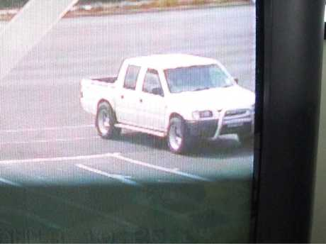 Police are looking for the owner of a ute seen stealing a large trailer.