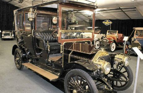 VINTAGE CLASSIC: This 1907 Fiat Brevetti is one of many historical cars in Clive Palmer's collection on display to the public.
