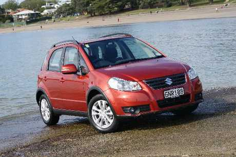 The Suzuki SX4 i-AWD is another compact four-wheel-drive vehicle that's trendy and desirable to urban types.