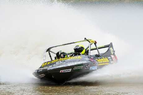 ONE TO WATCH: Leighton Minnell of Wanganui shows the form which could take him to the top of the podium in the Superboat class.