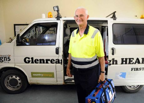 DRIVING FORCE: Glenreagh Heartstart founder Geoffrey Hicks has been nominated for the Australia Day Citizen of the Year award for his involvement with the organisation that provides medical assistance to people in the rural area.