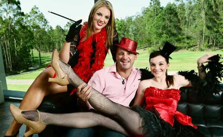 Drift Brookwater owner David Moore with Lauren Eden (left) and Brittney Robertson will host 50 Shades of Red on Valentine&#39;s Day.