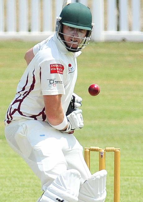 MENTAL GAME: Centrals batsman Ben O'Connell leaves a delivery against Laidley on Saturday. He wished his teammates had showed similar restraint.