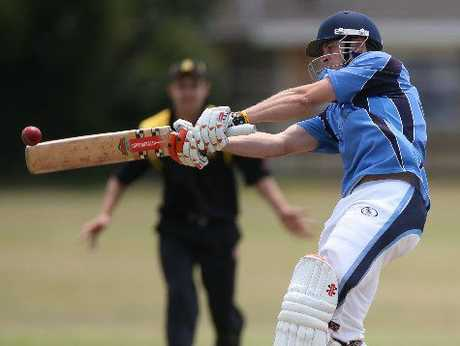 TON UP: Mitch McCann scored his maiden club century for Te Puke against Greerton on Saturday.