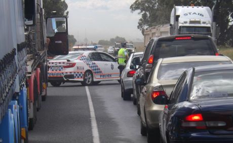 A 30-year-old man was seriously injured in a crash on the Warrego Highway near roadworks at Jondaryan.