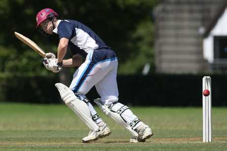 DOWN LEG: Tauranga Boys' College batsman Mark Orchard showing the form which helped him garner 91 runs in his team's win over East Bay United.