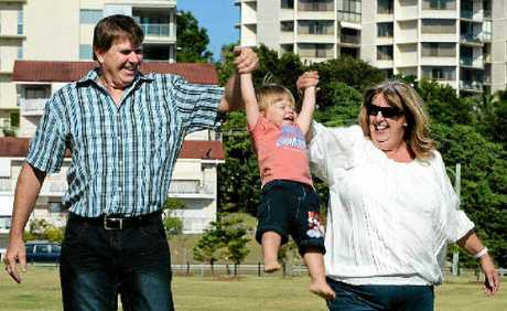 MIRACLE MUM: Peter Byrnes and Anthea Nicholas got the shock of their life when they found out Anthea was pregnant with baby Nicholas at 50. Photo: John Gass