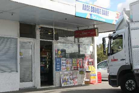 The shop owner of the Racecourse Dairy, Sockburn, is still shaken after a man wielding a cricket bat threatened him and stole money last Sunday morning.