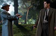 STANDOFF: Sean Penn (left) as Cohen confronts Josh Brolin's crusading cop O'Mara.