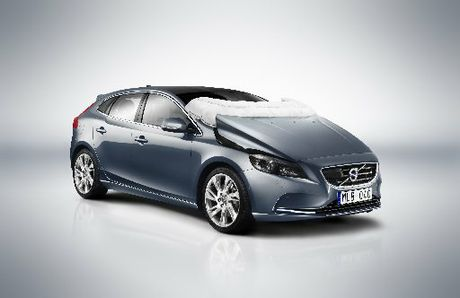 The Volvo v40 has a world-first bonnet airbag system.