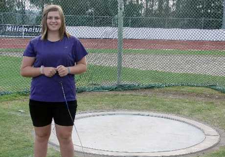 WELL DONE: Emma Kruszona came fourth in the women's hammer throw.