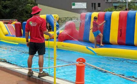 Free Fun With An Inflatable Pool Course Ballina Shire Advocate