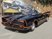 The original black, bubble-topped car used in the 1960s Batman TV show sold at auction over the weekend.