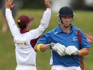 BLAZING CENTURY: Young Dutch batsman Tim de Kok scored 144 for Te Puke Reserves on Saturday.
