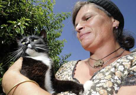 Cat owner Melissa Henderson disagrees with a campaign to see domestic cats eradicated.