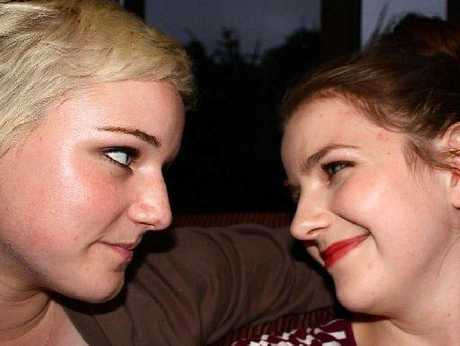 FRIENDS FOREVER: Caitlin Dickson and Lydia Hollister-Jones.