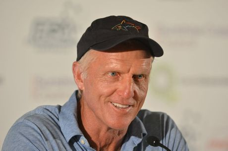 Greg Norman at the 2012 Australian PGA Championship Pro-Am press conference.