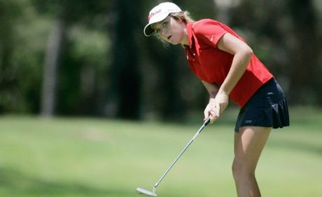 Sarah Antcliff competing in the Junior Golf Classic held at the Capricorn Resort Yeppoon. Photo: Chris Ison / The Morning Bulletin