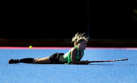 New Zealand Black Sticks player Gemma Flynn, during a team training session.