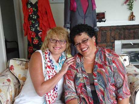 NEW THREADS: Dress for Success' Frankie Schilke with Ella Broughton, who has turned her life around.