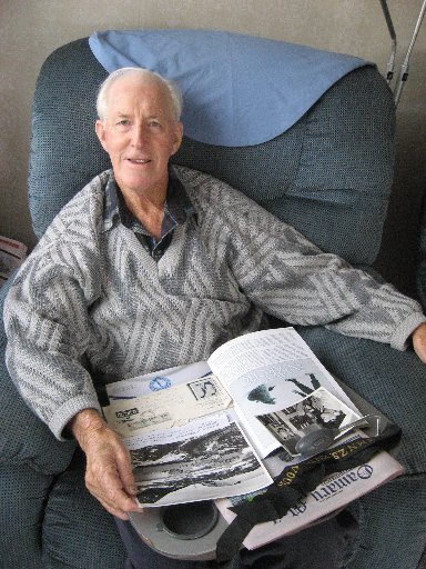 FOND TIMES RECALLED: Oamaru man Don Robb recalls visits to Antarctica as part of the crew of the HMNZS Endeavour. PHOTO/JACQUIE WEBBY