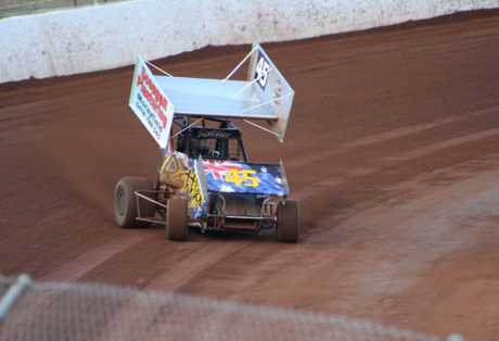 FAST PACE: The sprint cars raced sideways at full speed to provide the crowd with some adrenalin packed entertainment.