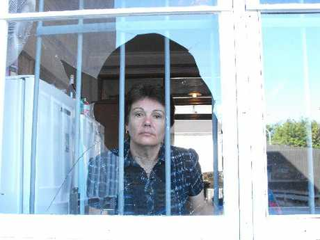 HEARTBREAKING: Foodbank manager Linda Taumoeanga surveys the scene of yet another break-in at the Foodbank building. PHOTO/ANNE-MARIE EMERSON