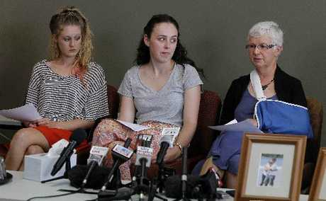 From left-  Joy Fisher, Anna Boggiss who were in the car following and Teacher Jan Dean who was in the van.
