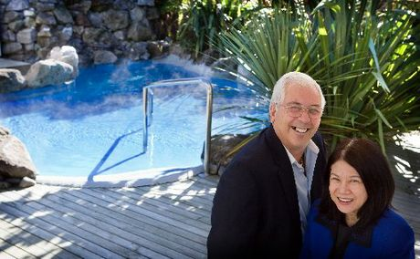 WINNERS: Bryan and Lisa Hughes of Rotorua&#39;s Wai Ora Spa, which was ranked fourth-best New Zealand hotel in the Trip Advisor Travellers&#39; Choice awards.