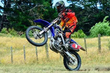 TOP RIDE: Pahiatua's Paul Whibley (Yamaha) led the race from start to finish.