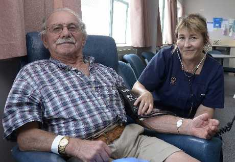 Stroke patient Rex Tollemache is the first to experience Waikato Hospital's new Medihotel service. Rex is pictured with Medihotel coordinator Julie-Anne Burgess