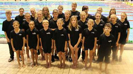 TALENT POOL: The highly successful Masterton swim team at the Wellington long course championships. Back row, from left: Emma Samuel, Ella Sims, Sian Dale, Logan Allen, Ben Ruback, Emma-Lee Rainbird, Sven Tobias, Asher Rayner, Teysha Deal. Middle row: Max Spencer, Gracie Donaldson, Maya Champion, Oliver Donaldson, Mitchell Cockburn, Noemi Leinfeller, Kate Warren, Kate Sims. Front row: Tabitha Leinfeller, Eternal Thompson, Ryan Sullivan, Siena Cockburn, Camryn Watt, Lilly Hamill-Harris, Mika Tobias.