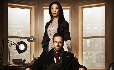 Lucy Liu and Jonny Lee Miller star in the TV series Elementary.