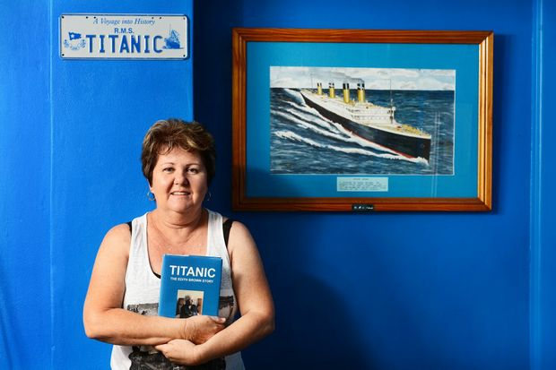 Granddaughter of the longest living survivor of the Titanic Dawn Pincott of Camira. Photo: David Nielsen / The Queensland Times