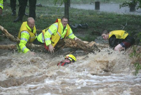 The Rockhampton area was the scene of one of the most dramatic flood rescues.