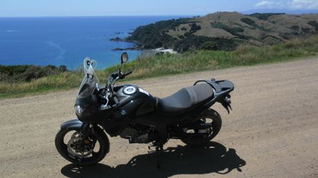 Suzuki's V-Strom was a perfect choice for exploring Waiheke Island.