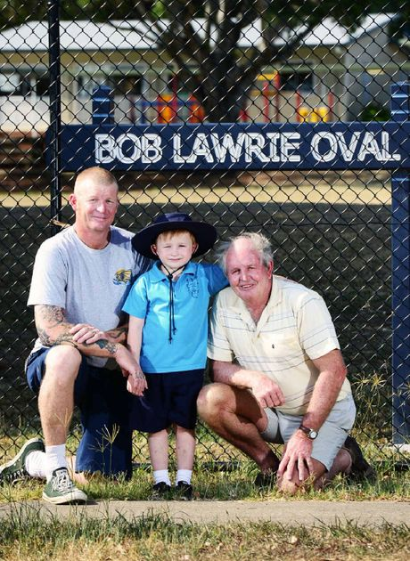 SIXTH GENERATION: Bobby Lawrie will be starting prep at Silkstone State School this year. Bobby's father Scott Lawrie and his grandfather Glenn Lawrie also attended the school.