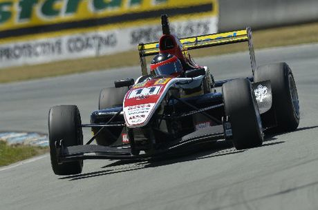 Lucas Auer driving in the Toyota Racing Series.