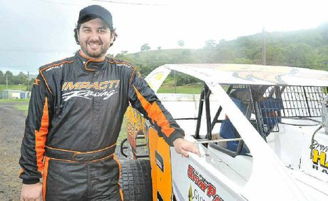 HOME TRACK: Brent Hall at the Lucas Oil Lismore Speedway.