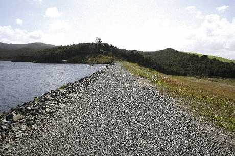 HOLDING UP WELL: Wilson's Dam at Ruakaka is near capacity because of pre-Christmas rain.