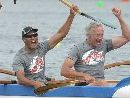 Northland waka ama paddlers stole the show at the nationals as the two inaugural races were taken out by locals.
