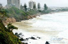 Big seas at Coolum on the Sunshine Coast. Photo contributed by Chantelle Skelton